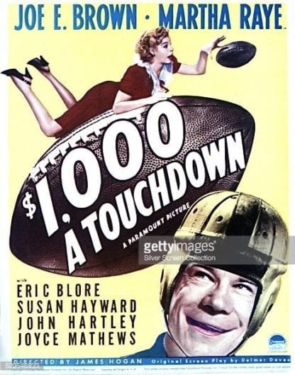 $1000 a Touchdown (1939) starring Joe E. Brown on DVD on DVD