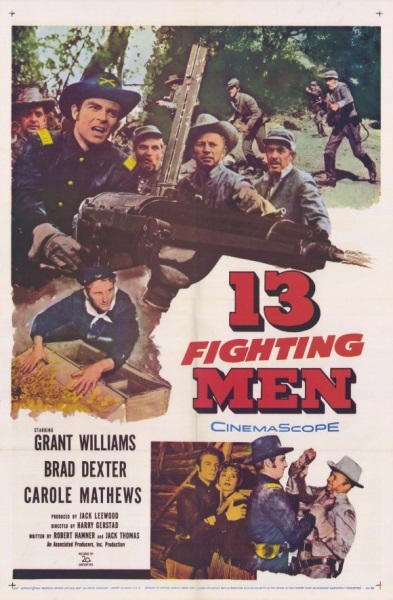 13 Fighting Men (1960) starring Grant Williams on DVD on DVD