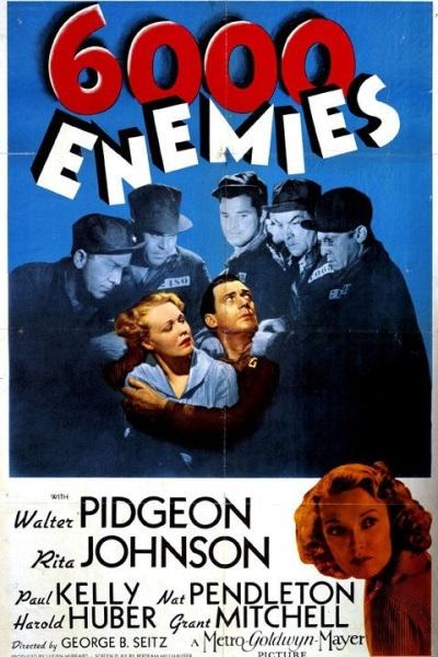 6,000 Enemies (1939) starring Walter Pidgeon on DVD on DVD