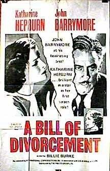 A Bill of Divorcement (1932) starring John Barrymore on DVD on DVD
