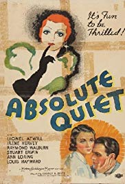 Absolute Quiet (1936) starring Lionel Atwill on DVD on DVD