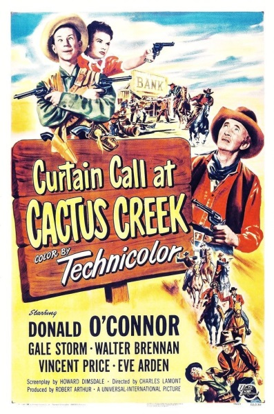 Curtain Call at Cactus Creek (1950) starring Donald O'Connor on DVD on DVD