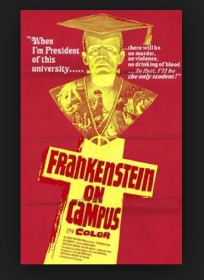 Dr. Frankenstein on Campus (1970) starring Robin Ward on DVD on DVD