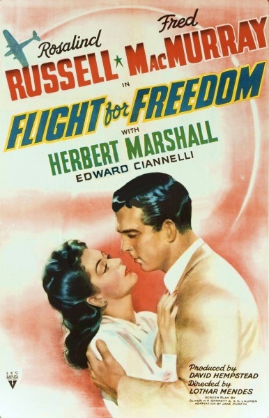Flight for Freedom (1943) starring Rosalind Russell on DVD on DVD