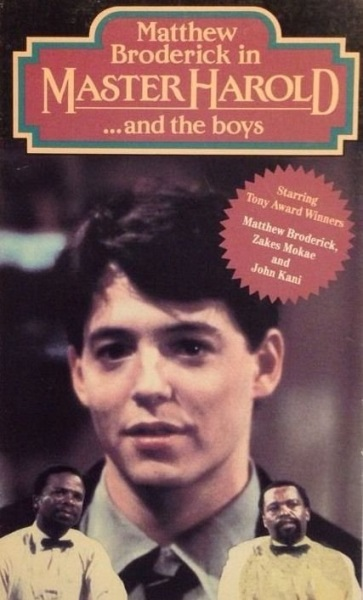 'Master Harold'... and the Boys (1985) starring Matthew Broderick on DVD on DVD
