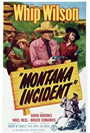 Montana Incident (1952) starring Whip Wilson on DVD on DVD