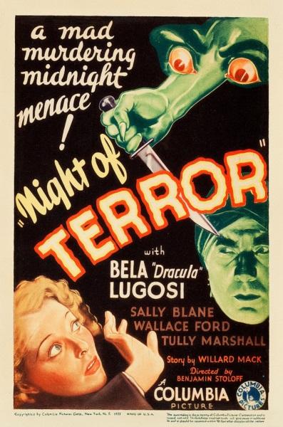 Night of Terror (1933) starring Bela Lugosi on DVD on DVD