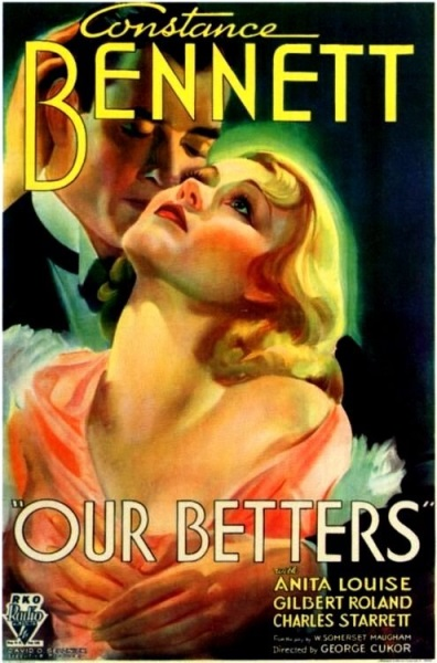 Our Betters (1933) starring Constance Bennett on DVD on DVD