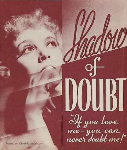 Shadow of Doubt (1935) starring Ricardo Cortez on DVD on DVD