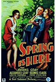 Spring Is Here (1930) starring Lawrence Gray on DVD on DVD