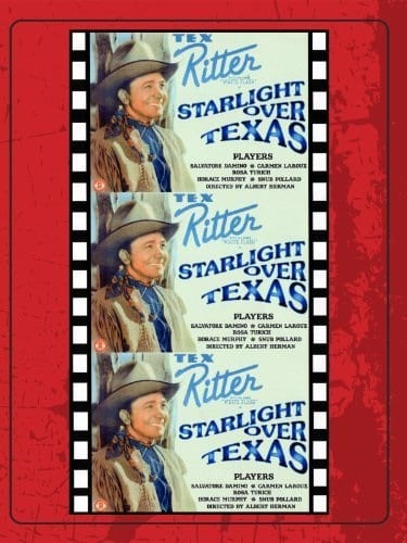 Starlight Over Texas (1938) starring Tex Ritter on DVD on DVD