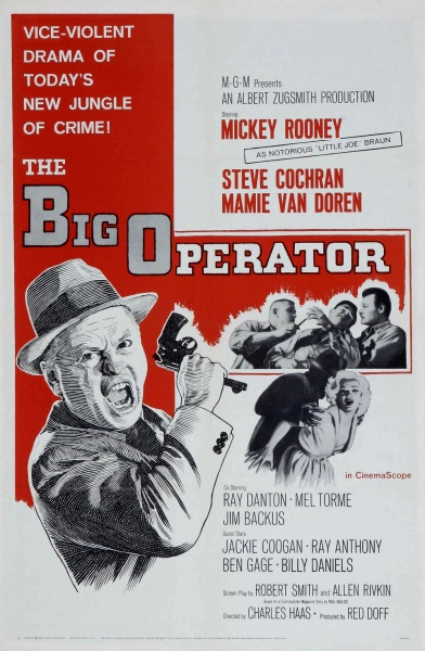 The Big Operator (1959) starring Mickey Rooney on DVD on DVD