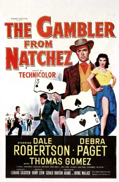 The Gambler from Natchez (1954) starring Dale Robertson on DVD on DVD