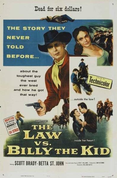 The Law vs. Billy the Kid (1954) starring Scott Brady on DVD on DVD