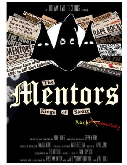 The Mentors: Kings of Sleaze Rockumentary (2017) starring Steve Broy on DVD on DVD