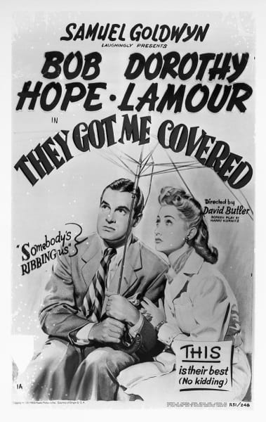 They Got Me Covered (1943) starring Bob Hope on DVD on DVD