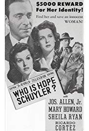 Who Is Hope Schuyler? (1942) starring Joseph Allen on DVD on DVD
