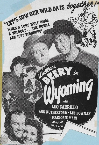 Wyoming (1940) starring Wallace Beery on DVD on DVD