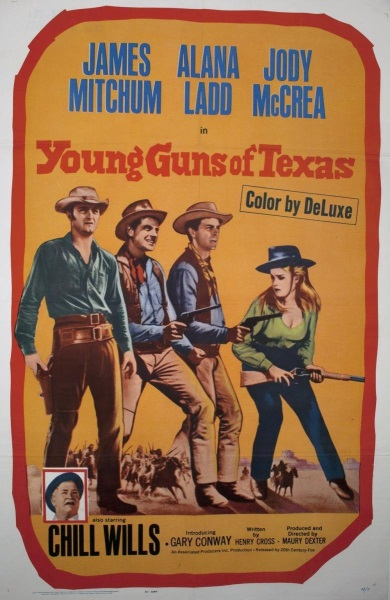 Young Guns of Texas (1962) starring James Mitchum on DVD on DVD